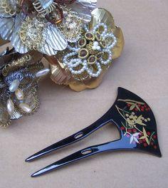 Vintage hair comb geisha Japanese kanzashi hair by ElrondsEmporium