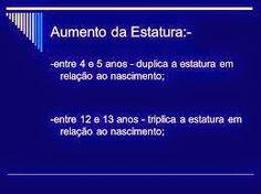 ESTATURA ESTIMADA DE CRIANÇA, INFANTIL,JUVENIL DE ACORDO COM GENERO