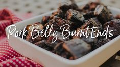 Pork Belly Burnt Ends Recipe on the Yoder Smokers YS640