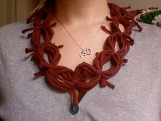 Make Linked Necklace Scarves from Old T-Shirts - The Beading Gem's Journal