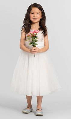 db0679d92ed Floral Sequin Bari Jay Flower Girl Dress F6017