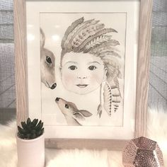 ARCHER  #mum #mumlife #watercolour #portrait #baby  #painting #australianartist #decor #kids #kidsdecor #kidsroom #kidsroomdecor #girlsroom #instakids #kidsstyle #style #interior #interiordesign #modern #scandi #boys #boysroom #feathers #monochrome #headdress #tribal #neutral #wallart #kidsprints #warrnambool by littlefelixdesign