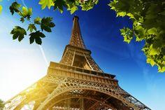 La tour eiffel, torre eiffel, París, Francia, torre eiffel, París, Francia, el cielo, el sol, hojas wallpaper