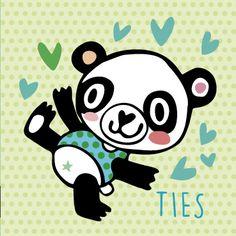 NIEUW! Geboortekaartje AJ27 > Panda www.tanjameteenrietje.nl