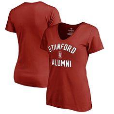 Stanford Cardinal Fanatics Branded Women's Plus Sizes Team Alumni T-Shirt - Cardinal