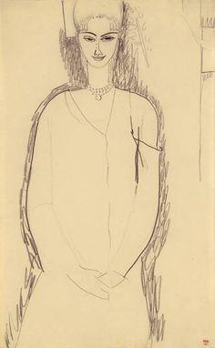 modigliani drawings | Amedeo Modigliani