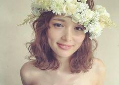 〔ボブからミディアムまで♡〕短め髪型の花嫁さんにおすすめブライダルヘアアレンジ特集*のトップ画像