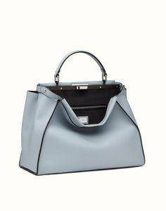 FENDI | PEEKABOO handbag in light blue leather