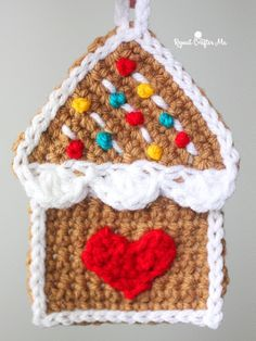 Crochet Gingerbread House Ornament | Repeat Crafter Me | Bloglovin'
