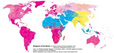 Religions of the world by country, and by administrative regions for China, India, Russia, United States, Canada and Australia.