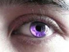 purple eye contact
