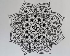 om mandala black and white - Google Search