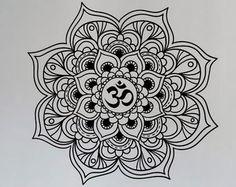 om mandala black and white - Google Search