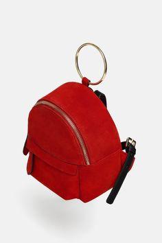 Fashion Bags, Fashion Backpack, Mini Mochila, Crocodile Handbags, Zara, Leather Backpack, Bag Accessories, Purses And Bags, Girly