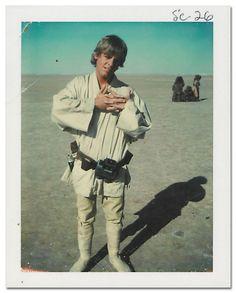mark hamill as luke skywalker on the set of star wars