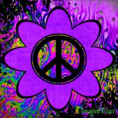 ✌Peace Sign Flower #cPurples
