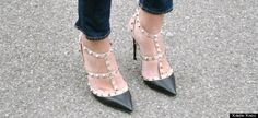 So maj. Valentino Studded T-bar Pumps