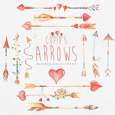 Hey, I found this really awesome Etsy listing at https://www.etsy.com/listing/226798010/arrows-supids-hand-drawn-watercolour
