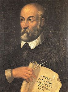 Andrea Palladio. 16th Italian  architect who re-introduced classical style into formal buildings, and whose influence peaked in England in 18th century, leading to some of my fave stately homes.