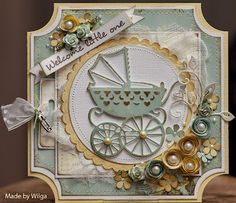 Adorable baby carriage card!