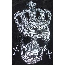 Rhinestone Skull design for my sons hoody