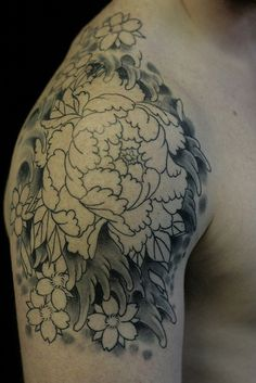 45-Most-beautiful-Peony-tattoo-Designs-24.jpg (600×899)
