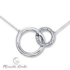 Miracle Links Necklace 1 10 Ct Tw Diamonds 10k White Gold
