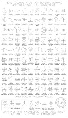 Sigils for demons