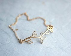 Leaves 14k gold fill chain Bracelet (pardes israel on Etsy) by suzanne