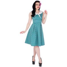 496bd8fe0e9208 Dolly and Dotty Dress Vintage Seemann, Rockabilly Pin-up, Matrosenkleid, 50er  Jahre