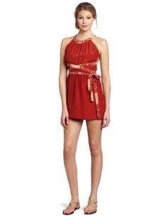 0f46ced1824e Sunner Women s Lincoln Wrap Mini Halter Dress