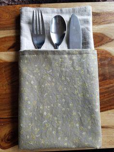 Linen Napkins, Set of Six Linen Napkins Reversible Washed LinenCloth Dining Napkins Large Table Napkins Vintage Taupe, Gold, Place Setting, by 2AngelsByCheryl on Etsy