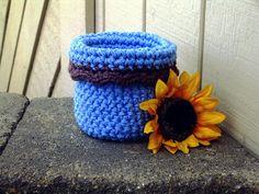 Inspiration - Basket:  Handmade Basket Crochet Basket Bowl by HandmadeByAnnabelle