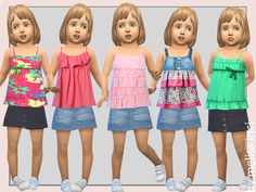 25 different colors  Found in TSR Category 'Sims 4 Toddler Female'