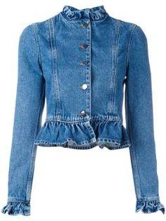Denim Fashion, Look Fashion, Fashion Boots, Designer Denim Jacket, Moda Jeans, Estilo Jeans, Look Jean, Denim Ideas, Women's Jackets