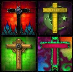 colorful cross images