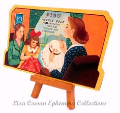 pigo needle book mothers and daughter. liza cowan ephemera collections via Flickr