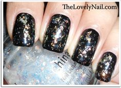 China Glaze Colours From The Capital - Luxe And Lush + Wet N Wild Black Creme