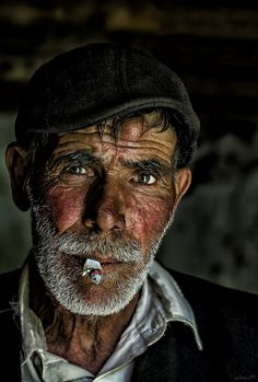♂ Man portrait smile smoker by volkan tural