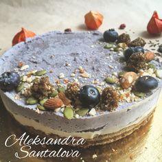 RAW CAKE- кокосово голубичный вкус #cake #raw #vegan #tort #natural