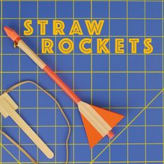 Kids Health Picture of Slingshot Straw Rockets - Engineering Projects for Kids - Simple and inexpensive to build. The slingshot rocket may take a little practice to use, but the payoff is well worth it as you launch it over you enjoy th. Stem Projects For Kids, Stem For Kids, Diy For Kids, Diy Projects, Project Ideas, Space Projects, Straw Projects, Stem Rockets, Rockets For Kids