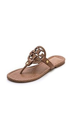 cdfa49e83 The summer sandal I live in - Tory s Miller - save today through Thursday  using promo code. Leather Flip FlopsCareer WearBeigeTory Burch ...