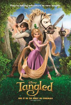 Enredados es una película producida por Walt Disney Animation Studios. La versión original cuenta con las voces de Mandy Moore y Zachary Levi. La historia se basa en el cuento, Rapunzel, de los Hermanos Grimm. Fue estrenada en 2D y 3D durante el 2010.