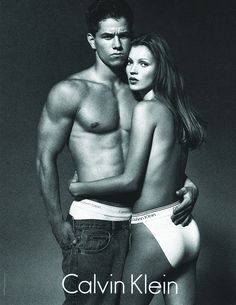 Iconic! Marky Mark and Kate Moss for CK. Work by Neil Kraft. KraftWorks NYC.
