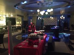 "KISS FM:  Pre-set up for ""The Bachelor"" launch party."