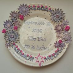 A custom birth plate finished!