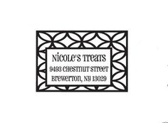 Modern church window pattern custom return address by terbearco, $29.99