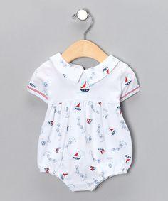 White Sailboat Pima Bodysuit - Infant #zulily #zulilyfinds