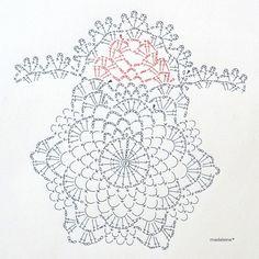 パイナップル編みドイリー・編み図 の画像|madeleine's blog