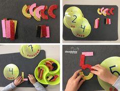 5 Maneras manipulativas y motivadoras para trabajar las grafías de los números en infantil. DIEZDEDOS EN MIS MANOS